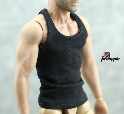 """1/6 Scale Male Man Underwear Tactical Vest in Black For 12"""" Muscle Action Figure"""