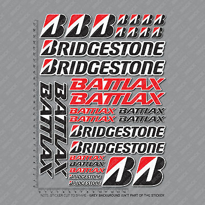 30 x Bridgestone Battlax Sponsor Stickers Decals Track Motorcycle Decals - 2794