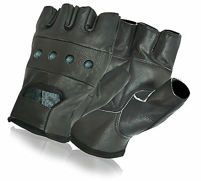 Real Leather Padded Weight Lifting Fitness Cycling Gloves Gym Wheel Chair Use