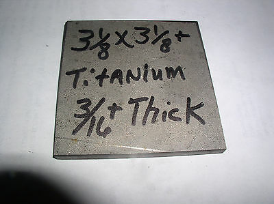 "3/16"" Titanium Flat Stock Bar 1 Pc. 3/16""+(.205) X 3 1/8""+ X 3 1/8""+Sawed Sides"