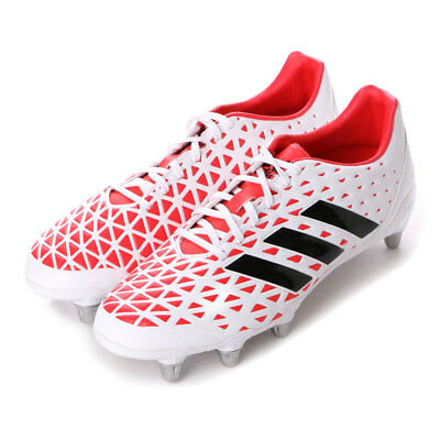 BRAND NEW Size 11.5 Adidas Kakari Elite SG Rugby Boots  White/Black/Pink  AQ2057