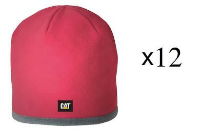 Warehouse Clearance Job lot Wholesale CAT Fleece beanie Red New with Tags X12