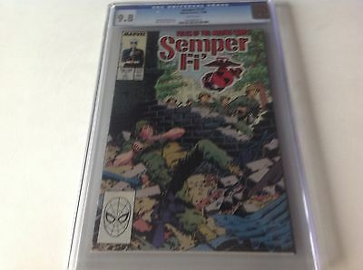Semper Fi 1 Cgc 9.8 White Pages Tales Of The Marine Corps Jarhead Marvel Comics