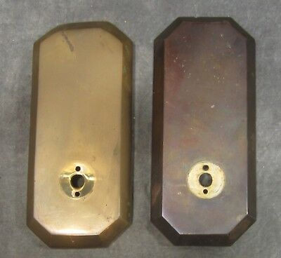 2 VINTAGE Heavy Cast Solid Brass Wall Sconce Backplates