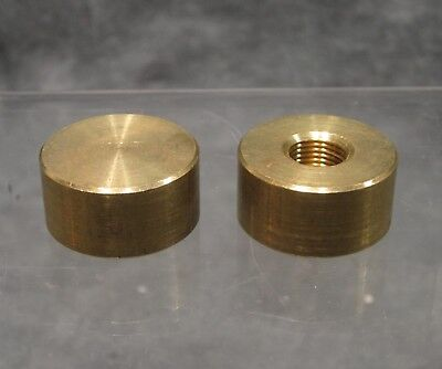 LOT of 2 Matching Solid Brass Lamp Finials - 1/8ips Thread