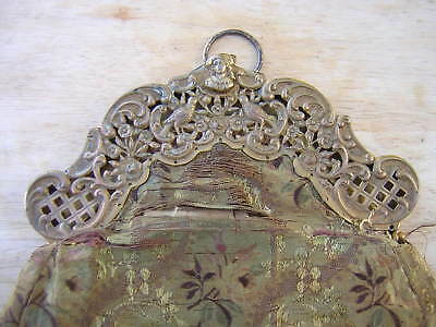 Antique Victorian Very Ornate Gold Gilt Sterling Silver Purse Handbag