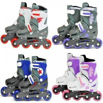 Inline Quad Ice Padded Skates SK8 Zone  Roller Blades Adjustable Size 4 Colours