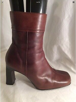 2173d709a6 NL COLLECTION LADIES Brown Leather Ankle Boots Size 5 -  18.53 ...