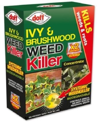 Doff Ivy & Brushwood Weedkiller Concentrate Systemic Weed Killer - 2 Sachets