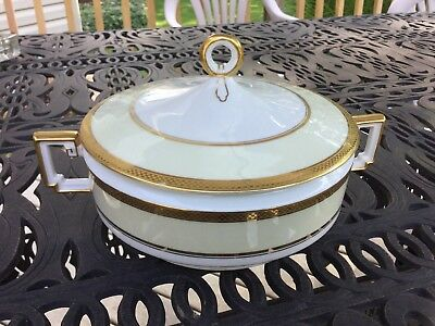Heinrich & Company Selb Bavaria Gold Covered Casserole Dish
