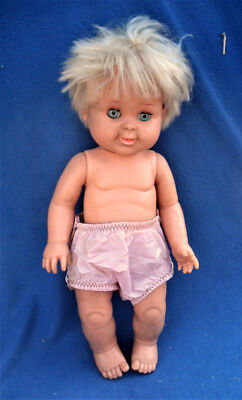 """Vintage 1989 Ideal BETSY WETSY 16"""" Baby Doll with Blue Sleepy Eyes"""