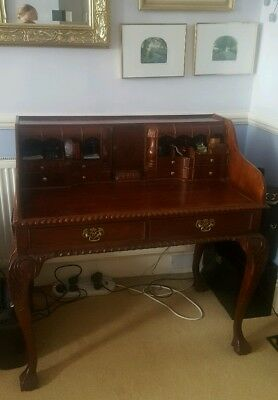 Wooden Edwardian Vintage Writing Desk Bureau