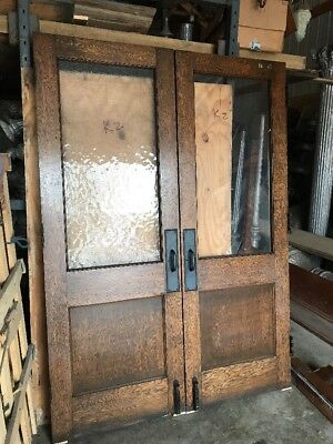 An K2 Antique Oak Double Door Passage Set With Jam And Trim 5' X 84