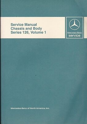 Mercedes-Benz Service Manual Chassis & Body Series 126, Vol 1 OEM