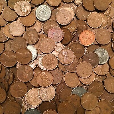 1909-1958 Lincoln Wheat Cents (100-Coin Lot)