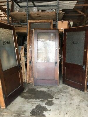 "An 3 Available Antique Pine Textured Glass Passage Doors 36"" With Jamb"