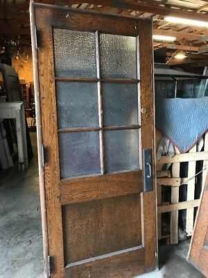 An To Antique Six Light Textured Glass Oak Passage Door 36 Inch