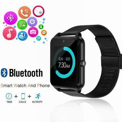 For IOS Android Bluetooth Smart Watch GSM SIM Phone Mate Z60 Stainless Steel GY