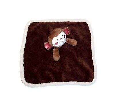 Babies R Us Dark Brown Monkey Baby Blanket Cream Trim Koala Security Lovey