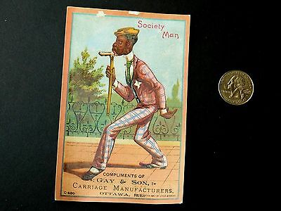 Gay & Son Carriage Manufacturers Black Americana Buckboard No. 2 Trade Card C4