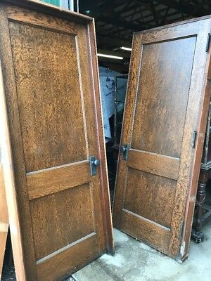 An 5Available Price Separate Antique 2Panel Oak Passage Door 34 X 85 W Frame