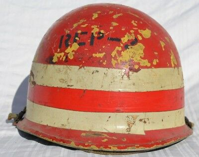 Us M1 Helmet Painted Unit Id Marks Navy Usn Vietnam Or Later Usa