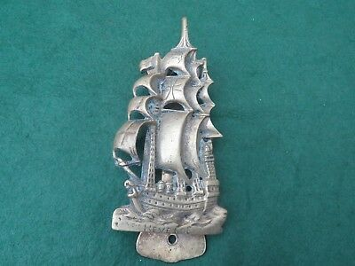 Vintage Heavy Brass Revenge Ship Door Knocker