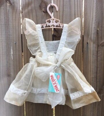 Rare Vintage NEW Old Stock W/ Tags White Pinafore Walter Munro Dress NOS NWT