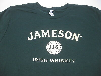 Jameson Irish Whiskey T-Shirt XXL 2XL Dark Forest Green Brand New Bella + Canvas