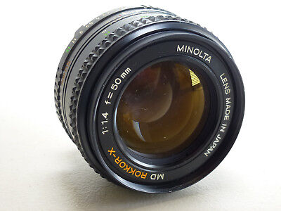 Minolta MD Rokkor-X 50mm f1.4 Manual Focus Camera Lens - FUNGUS, AS-IS | I-15646