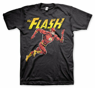 Officially Licensed The Flash Running Men's T-Shirt S-XXL Sizes