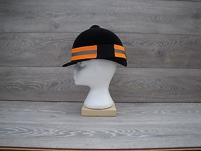 Fluorescent Orange High Visibility Reflective Hat Band Horse Riding Cycling