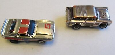 VINTAGE AFX SLOT CAR CHEVY NOMAD and JAVELIN CHROME