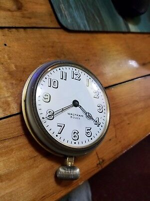 Great antique Waltham 8 days car dash clock