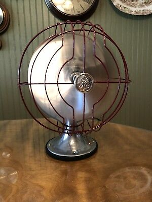 "Antique 1934 GE 8"" Quiet Blade General Electric 1 Speed Oscillator Fan RESTORED"