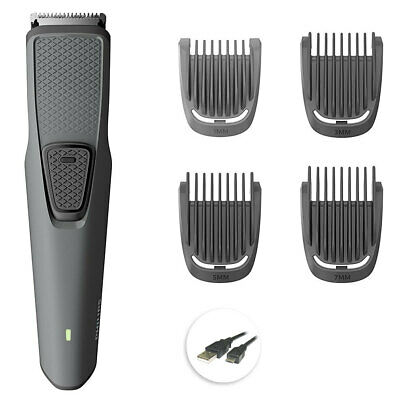 Philips BT1216 USB Rechargeable Cordless Stubble Beard Hair Trimmer/Clipper