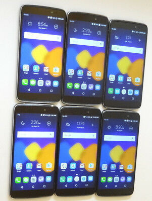 Lot of 6 Alcatel OneTouch Idol 3 6045O 16GB Cricket Smartphones AS-IS GSM
