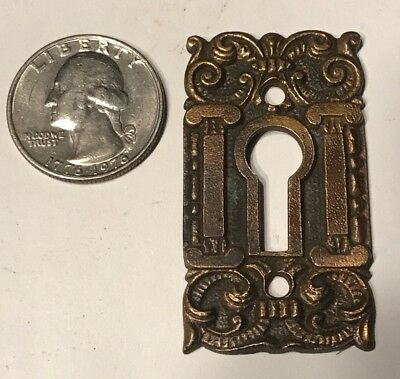 Antique Brass or Bronze Cast Key Hole Eastlake Victorian Escutcheon