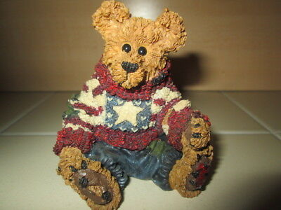 Boyds Bears Eddie Proud to be Bearmerican USA Flag Sweater 1998 Figure #'D