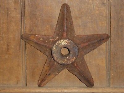 19th C OLD ORIGINAL CAST IRON ARCHITECTURAL SUPPORT BARN BUILDING STAR