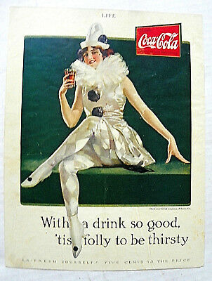 "1925 Life ""with A Drink So Good, 'tis Folly To Be Thirsty"" Girl In Clown Costume"
