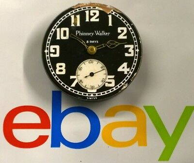 Buren 8 Day Car Automobile Clock / Watch 6 Jewels Swiss - Not Working for Parts