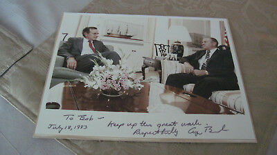 41st President of the United States of America George H.W. Bush signed photo