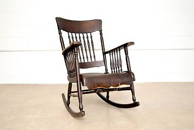 Antique Rocking Chair Victorian Smith Day Wood Bentwood Rocker Antique Chair
