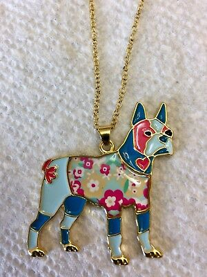 Boston Terrier Colorful Necklace