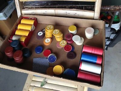 Vintage Poker Chips- Large variety, Collectable