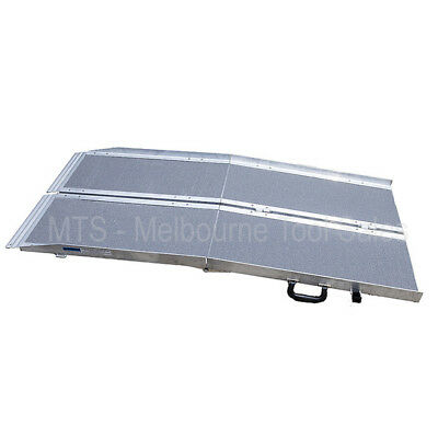 8ft Aluminium Wheelchair / scooter Ramp Portable Multi Folding for Mobility Aids