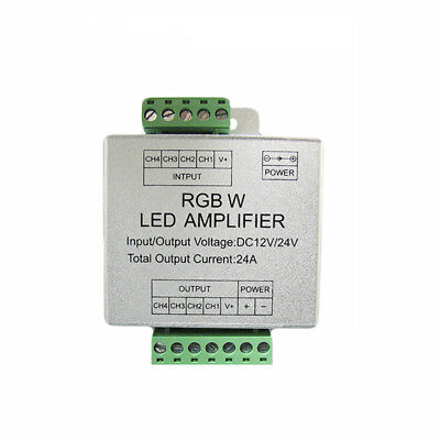 DC12-24V 24A RGBW LED Signal Amplifier for SMD 5050 RGBW LED Strip Light