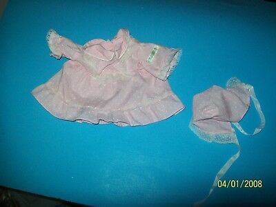 fits CABBAGE PATCH kids  DOLL PREEMIE OUTFIT PINK DRESS