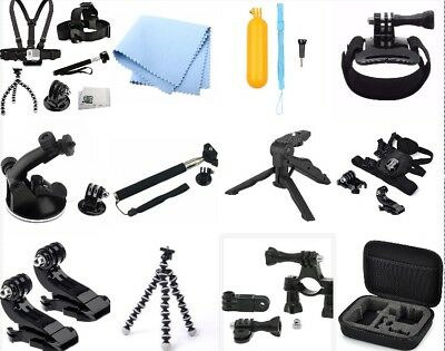 13 in 1 Head Chest Mount Monopod Accessories Kit For GoPro Hero 1 2 3 4 5 Camera